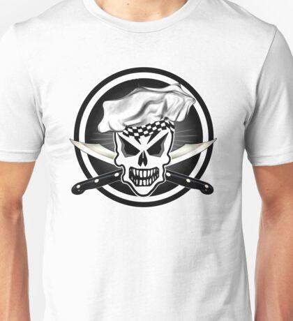 Chef Skull Black 2 Unisex T-Shirt