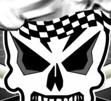 Chef Skull Black 2 Sticker
