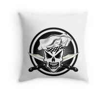 Chef Skull Black 2 Throw Pillow