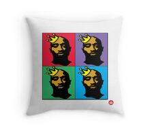 HIP-HOP ICONS: TUPAC SHAKUR (4-COLOR) Throw Pillow