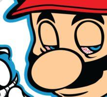 Mario - Plain White Variant Sticker