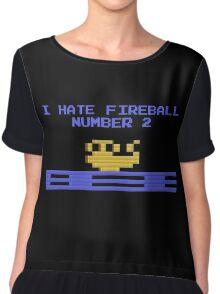 I Hate Fireball Number 2 - Donkey Kong - Atari 2600 Chiffon Top