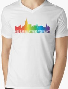 You Can Want Who You Want Mens V-Neck T-Shirt