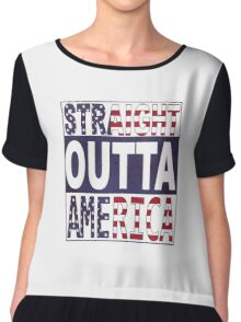 Straight Outta America Chiffon Top