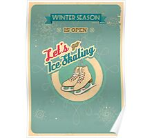 Let's Go Ice Skating Poster