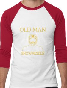 Never Underestimate An Old Man With A Snowmobile Men's Baseball ¾ T-Shirt