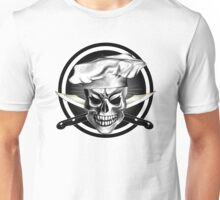 Chef Skull Black 3 Unisex T-Shirt