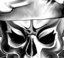 Chef Skull Black 3 Sticker