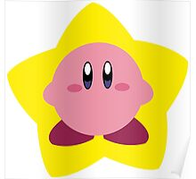 Kirby and star Poster