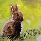 Baby Bunny Rabbit Painting : Print for Sale by Samuel Durkin