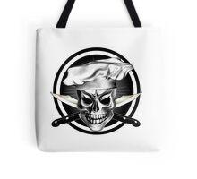 Chef Skull Black 3 Tote Bag