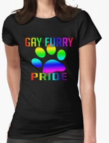 Gay Furry Pride Womens Fitted T-Shirt