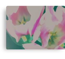 Abstract Pastel Tulips Canvas Print