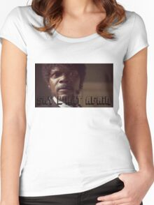 Pulp Fiction Say What Again Jules Women's Fitted Scoop T-Shirt