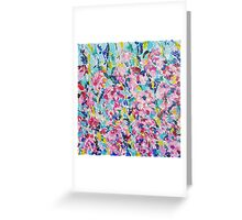 Absract colored painting 12 Greeting Card
