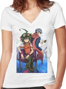 Yu-Gi-Oh Women's Fitted V-Neck T-Shirt