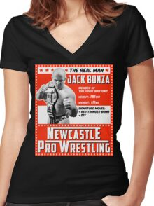 Jack Bonza Champion Edition Women's Fitted V-Neck T-Shirt