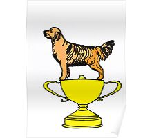 Trophy Cup Dog Poster