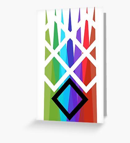 Primary Diamonds Greeting Card