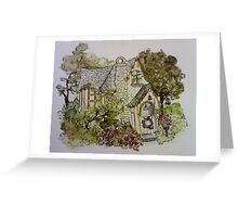 Dreamy Cottage Greeting Card