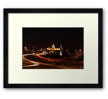 Minnesota State Capital at Night Framed Print