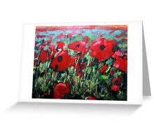 Field of Poppies. Painting by Samuel Durkin Greeting Card