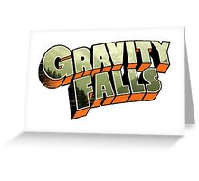 Gravity Falls logo Greeting Card