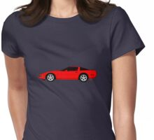 A Little C-4 ZR-1 Corvette on the Side Womens Fitted T-Shirt