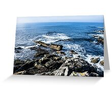 on the cliffs Greeting Card