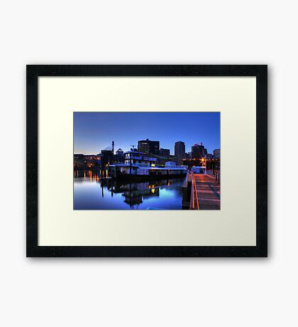 Tugboat at Night Framed Print