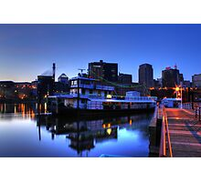Tugboat at Night Photographic Print