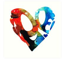 Love 8 - Heart Hearts Romantic Art Art Print