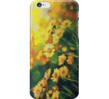 Daisies in the Sun landscape Flower painting by Samuel Durkin iPhone Case/Skin