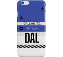 Dallas Texas DAL code Airport Luggage Tag graphic iPhone Case/Skin