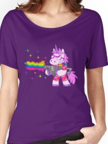 Bad-Ass Barney The Unicorn Women's Relaxed Fit T-Shirt