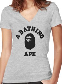 APE Women's Fitted V-Neck T-Shirt