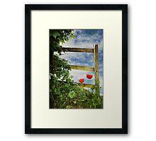 Over the Garden Gate Framed Print