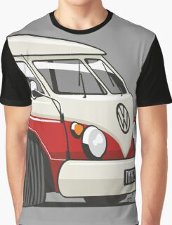 VW T1 Microbus cartoon red Graphic T-Shirt