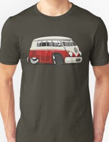 VW T1 Microbus cartoon red Unisex T-Shirt