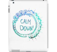 Calm Down (in blue swirl) iPad Case/Skin