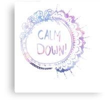 Calm Down (pink galaxy) Canvas Print