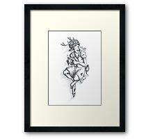 Fawnlock in a Dress Framed Print