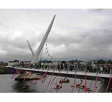 Opening of Derry Peace Bridge  -Derry Ireland Photographic Print