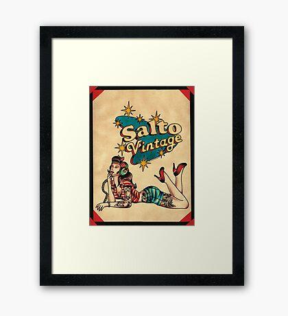 Salto Vintage  Framed Print