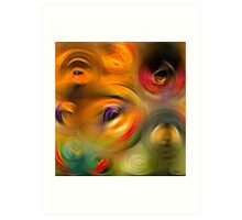 Heaven's Eyes - Abstract Art By Sharon Cummings Art Print