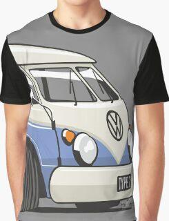 VW T1 Microbus cartoon blue Graphic T-Shirt