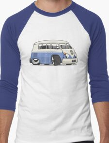 VW T1 Microbus cartoon blue Men's Baseball ¾ T-Shirt