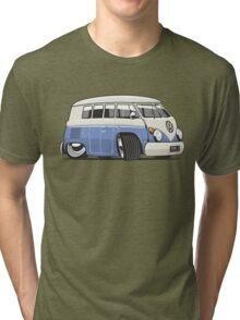 VW T1 Microbus cartoon blue Tri-blend T-Shirt