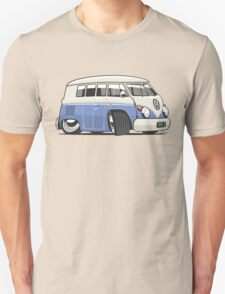 VW T1 Microbus cartoon blue Unisex T-Shirt
