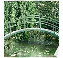 Miniature Replica of Monet's Water Lily Pond Poster